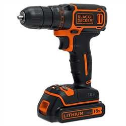 Black and Decker - 18V Drill Driver  1A charger 1 batt   Kitbox - BDCDC18K1