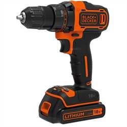 Black and Decker - 18V 2G Drill driver  1A charger  2 batt  Kitbox - BDCDD186K1B