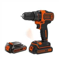 Black and Decker - 18V 2G Drill driver  400mA charger  2 batt - BDCDD186KB