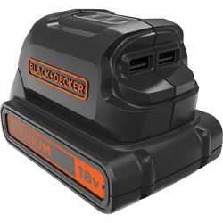Black and Decker - ro 18V USB Charger - BDCU15AN