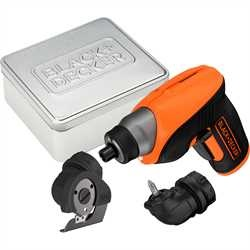Black and Decker - Surubelnita electrica LiIon 36V cu maner pivotant atasament cutter si cutie metalica - CS3652LCCT
