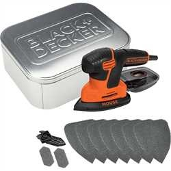 Black And Decker - Slefuitor in detaliu Mouse 120W 10 accesorii si cutie metalica - KA2000AT