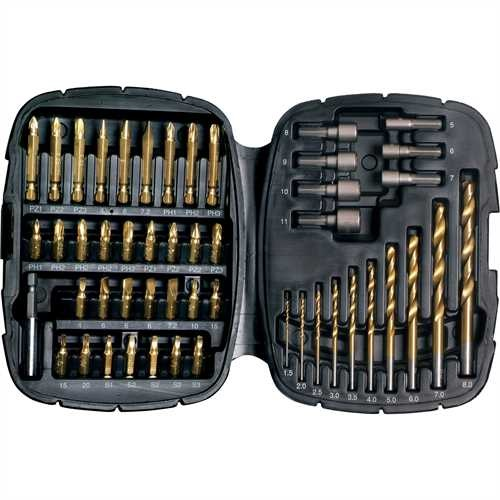 Black and Decker - ro50 Piece Metal Titanium Drilling  Screwdriving Bit Set - A7093