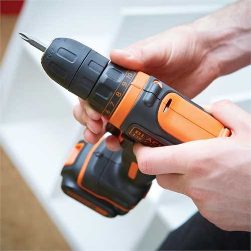 Black and Decker - ro 108V Ultra Compact Lithiumion Drill Driver - BDCDD12K1B