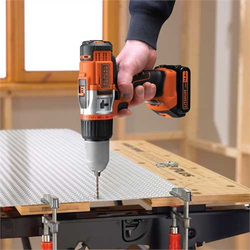 Black and Decker - Masina performanta de gaurit cu percutie si acumultori LiIon de 144V - EGBHP148BK