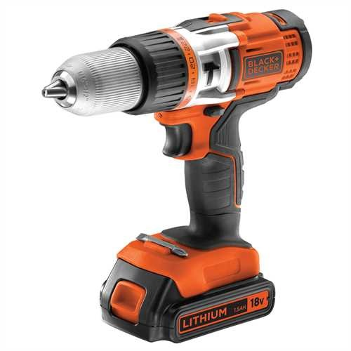 Black and Decker - ro 18V High Performance Drill with 1A 90 Min Charger - EGBHP1881K