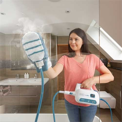 Black and Decker - SteaMitt Plus Handheld Steam Cleaner - FSH10SM1