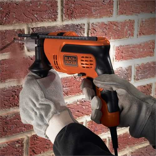 Black and Decker - Masina de gaurit si insurubat cu percutie de 710W - KR714CRES