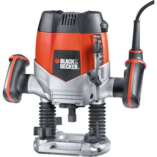 Black and Decker - 1200W 14 Router  11 Accs - KW900EKA